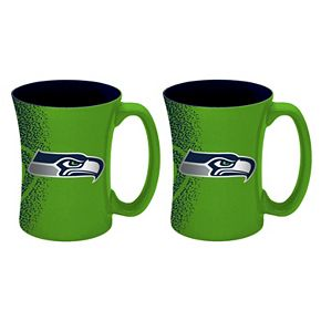 Boelter Seattle Seahawks Mocha Coffee Mug Set