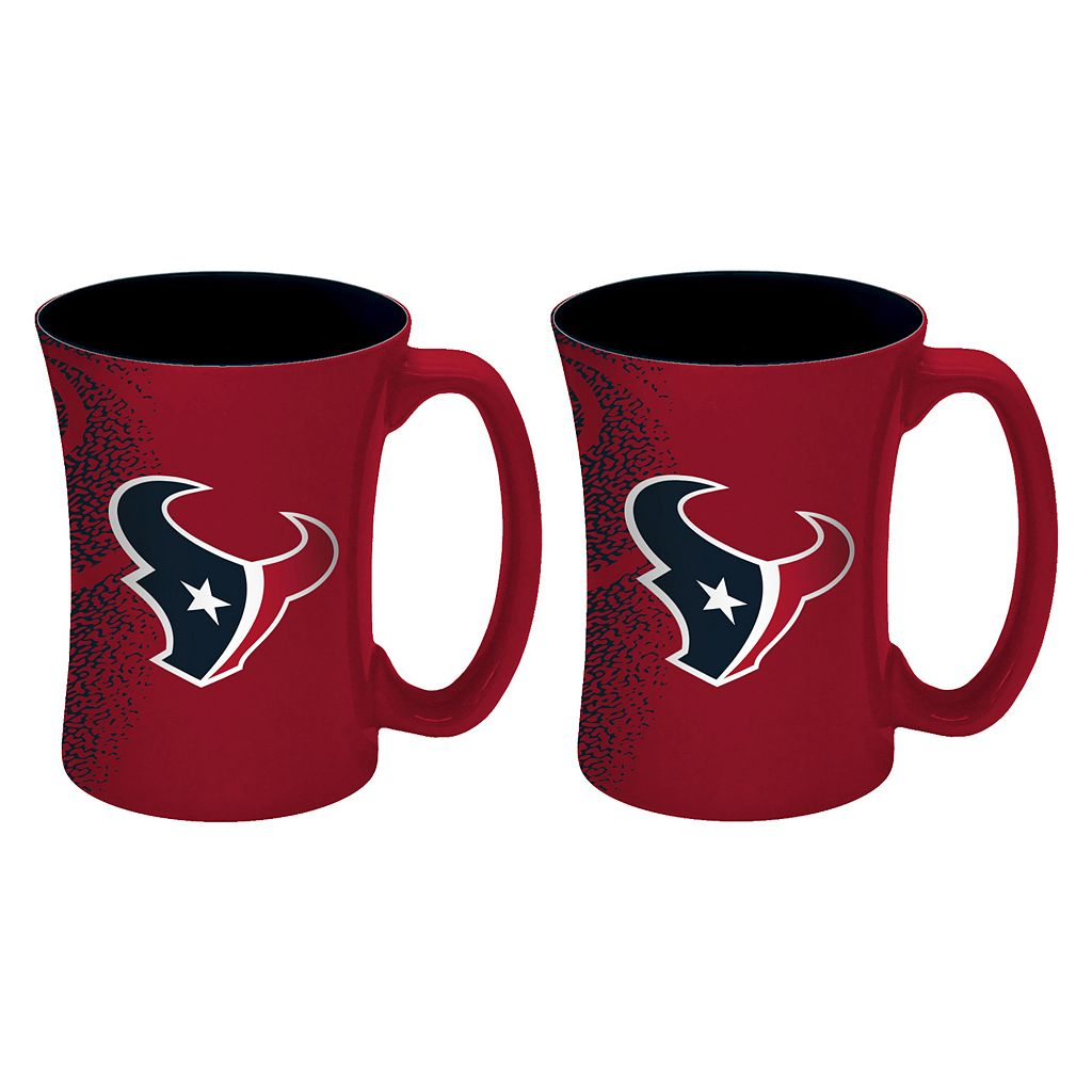 Boelter Houston Texans Mocha Coffee Mug Set