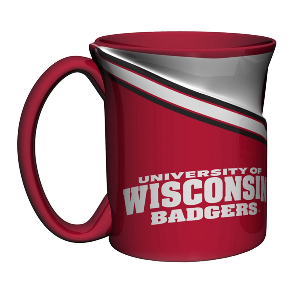 Boelter Wisconsin Badgers Twist Coffee Mug Set