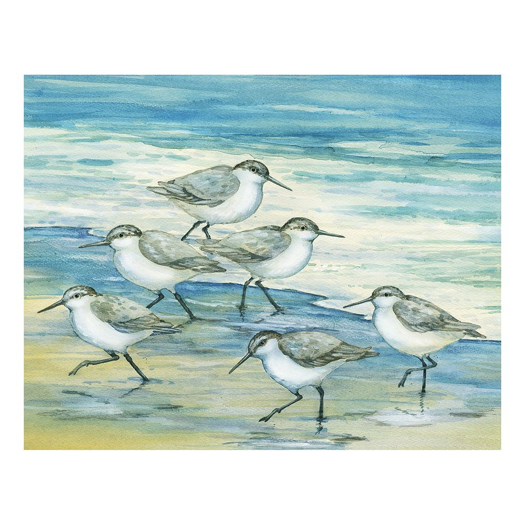 Surfside Sandpipers Canvas Wall Art