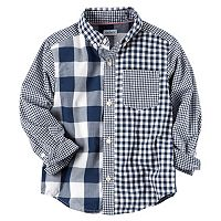 Boys 4-8 Carter's Checkered Plaid Woven Button-Down Shirt