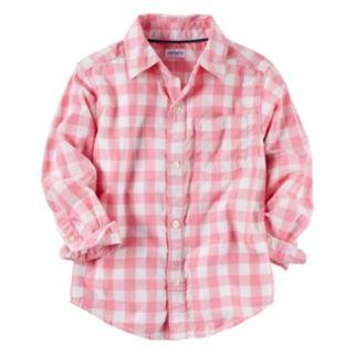 Boys 4-8 Carter's Checkered Plaid Woven Button-Down Shirt