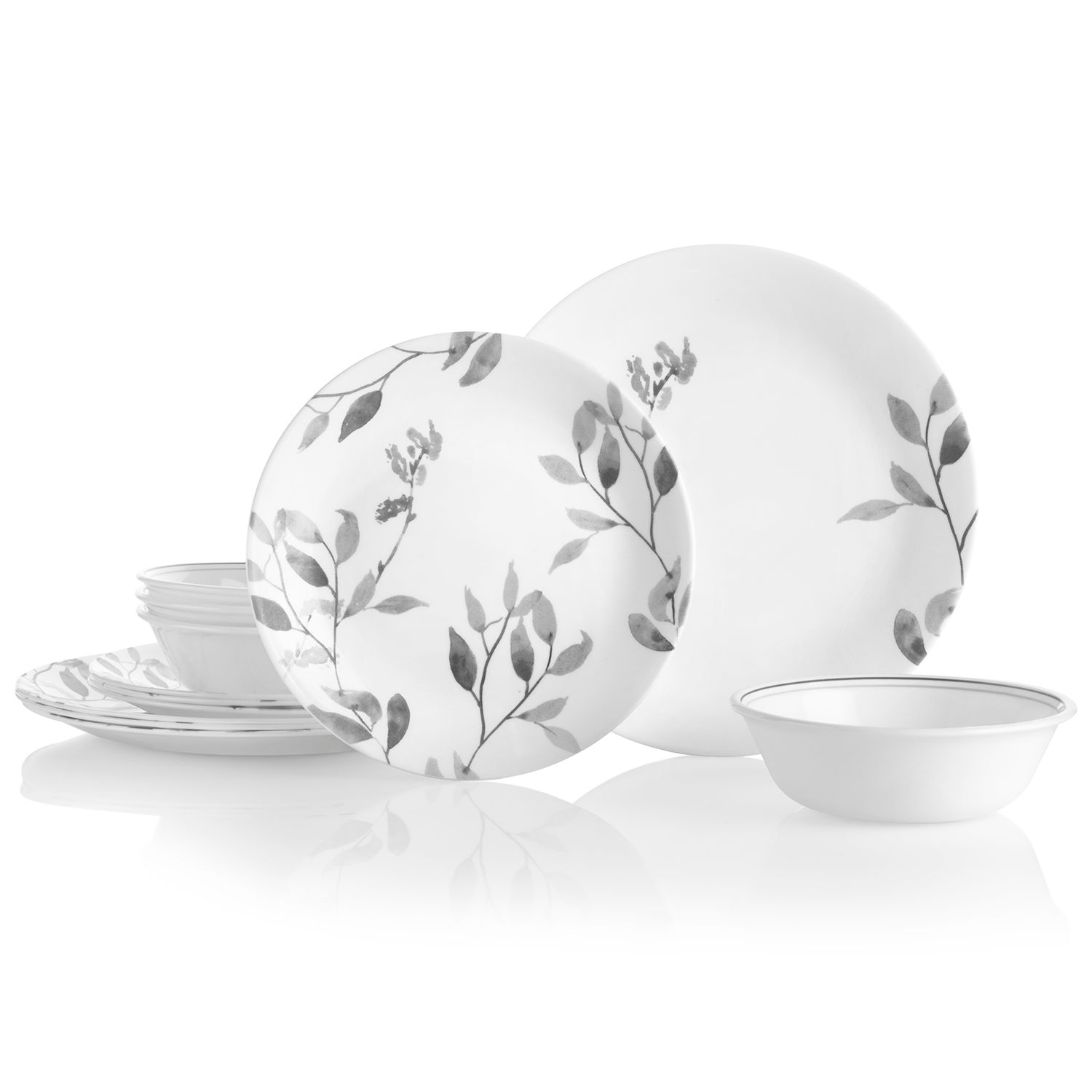 sc 1 st  Kohlu0027s & Corelle Misty Leaves 12-pc. Dinnerware Set