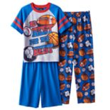 Boys Jelli Fish 3-Piece Pajama Set
