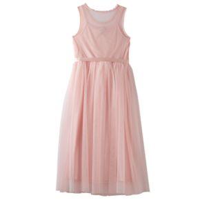 Girls 7-16 Lilt Crochet Lace Bodice Mesh Maxi Dress