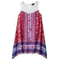 Girls 7-16 Lilt Paisley Bandana Print Handkerchief Hem Dress