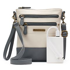 Stone & Co. Plugged In Phone Charging Leather Convertible Crossbody Bag