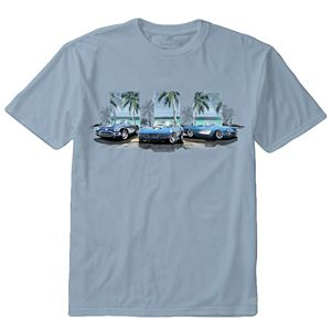 Men's Newport Blue Corvette Convertible Tee