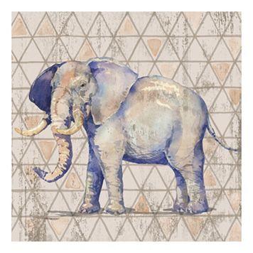 Geometric Elephant Canvas Wall Art
