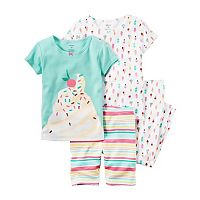 Girls 4-12 Carter's 4-pc. Print Pajama Set