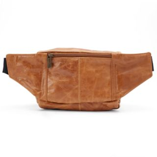 AmeriLeather Easy Traveler Leather Fanny Pack