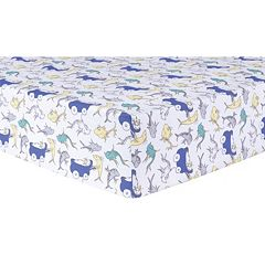 Dr. Seuss New Fish Fitted Crib Sheet by Trend Lab