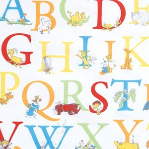 """Dr. Seuss """"ABC"""" Fitted Crib Sheet by Trend Lab"""