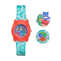 PJ Masks Owlette, Gekko & Catboy Kids' Digital Charm Watch