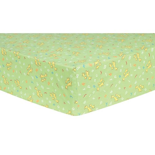 """Dr. Seuss """"ABC"""" Characters Fitted Crib Sheet by Trend Lab"""