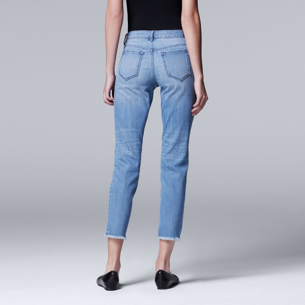 Women's Simply Vera Vera Wang Frayed Skinny Ankle Jeans