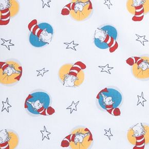 """Dr. Seuss """"Cat in the Hat"""" Fitted Crib Sheet by Trend Lab"""