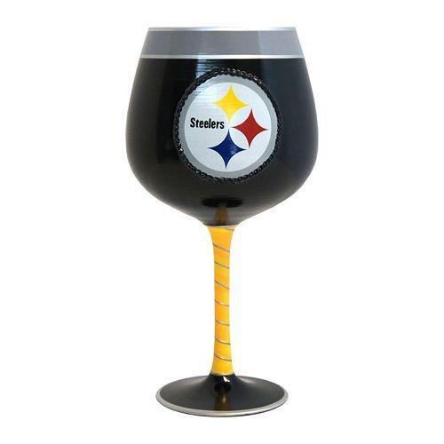Boelter Pittsburgh Steelers Artisan Wine Glass