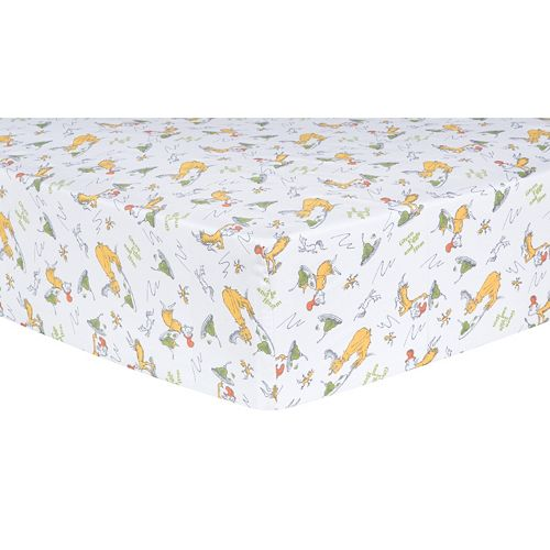 Dr. Seuss Sam-I-Am Fitted Crib Sheet by Trend Lab