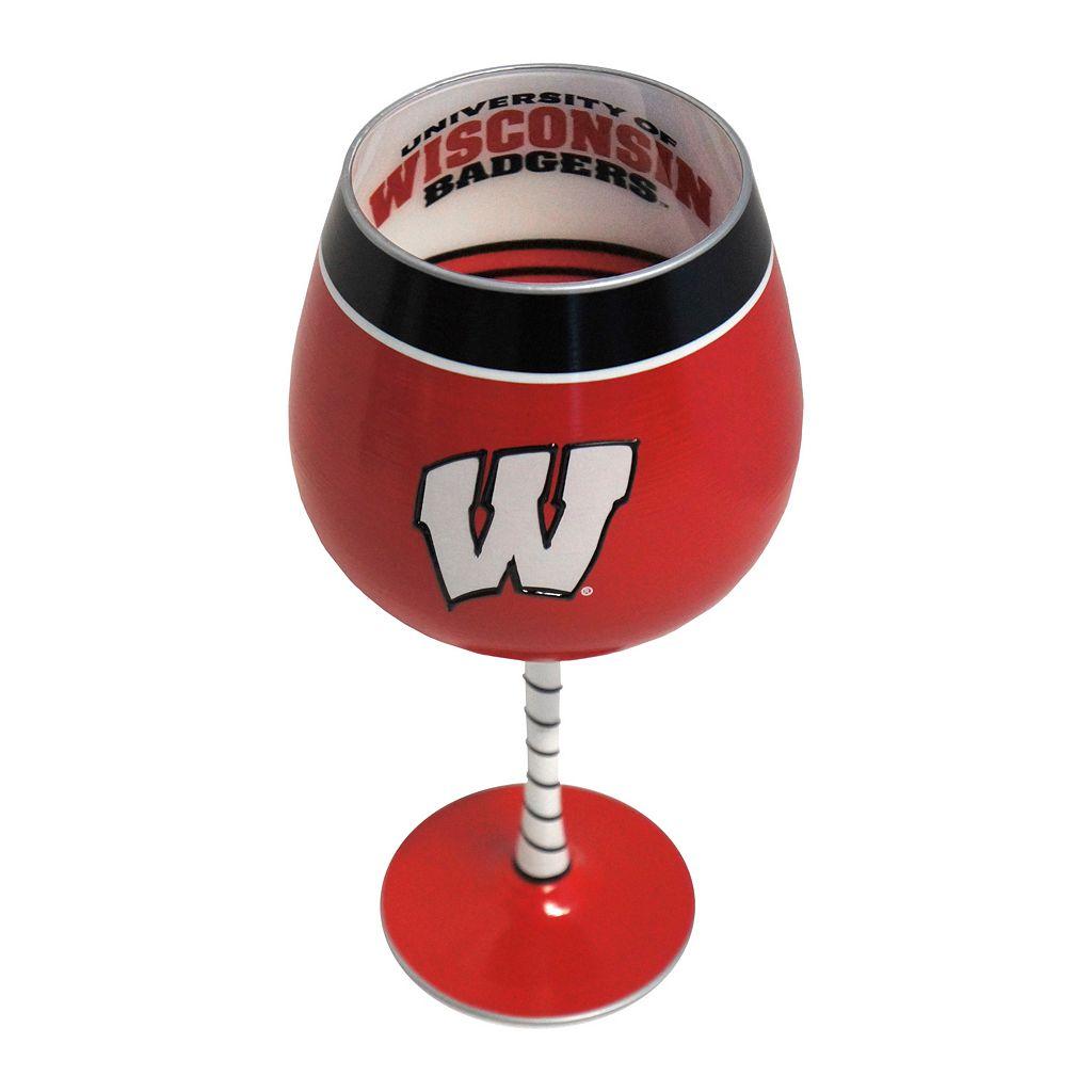 Boelter Wisconsin Badgers Artisan Wine Glass