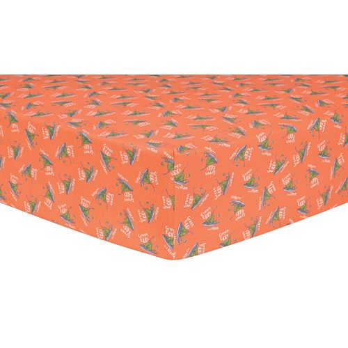 """Dr. Seuss """"Green Eggs & Ham"""" Fitted Crib Sheet by Trend Lab"""