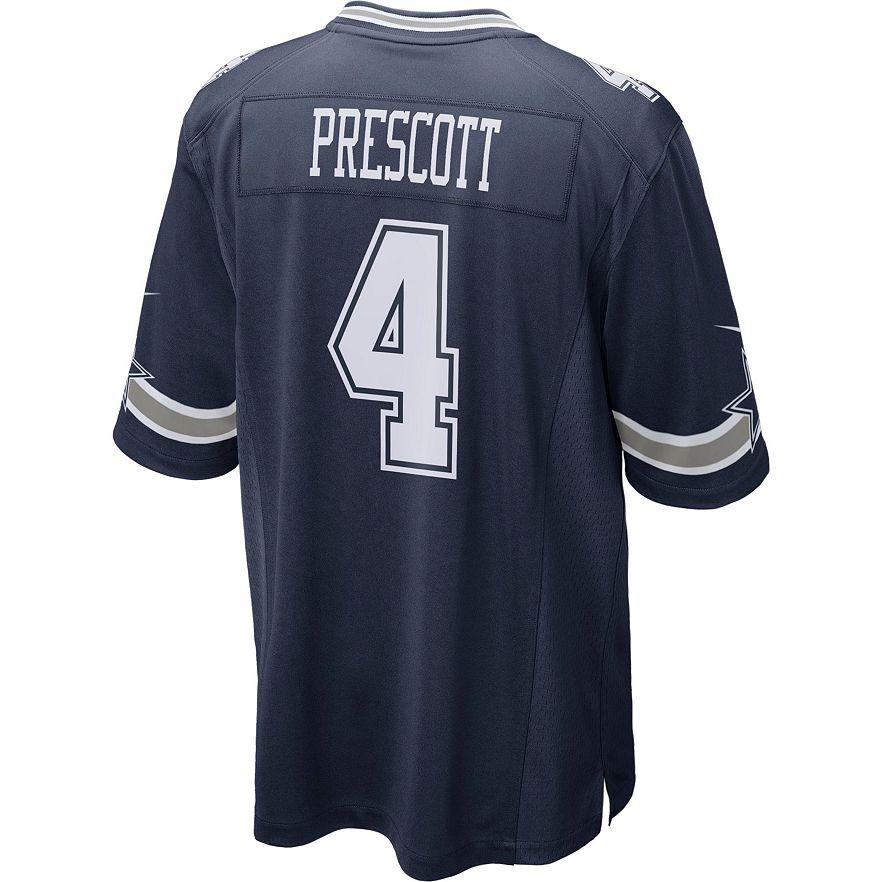finest selection c4efb 37d6a Men's Nike Dallas Cowboys Dak Prescott Game NFL Replica Jersey