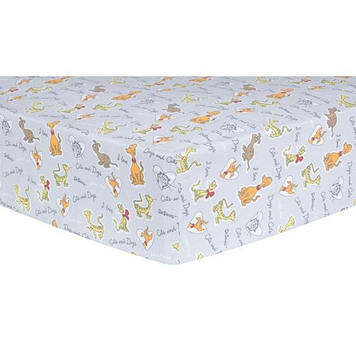 """Dr. Seuss """"What Pet Should I Get?"""" Pet Sayings Fitted Crib Sheet by Trend Lab"""
