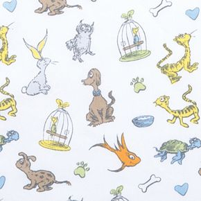 """Dr. Seuss """"What Pet Should I Get?"""" Fitted Crib Sheet by Trend Lab"""