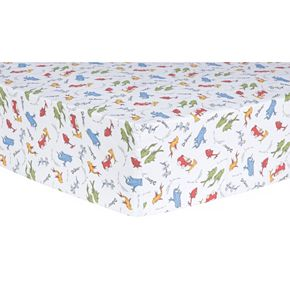 "Dr. Seuss ""One Fish, Two Fish"" Fitted Crib Sheet by Trend Lab"