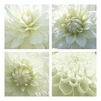 White Blossom Canvas Wall Art 4-piece Set
