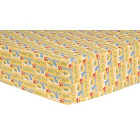 """Dr. Seuss """"One Fish, Two Fish"""" Titles Fitted Crib Sheet by Trend Lab"""
