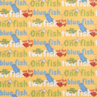 "Dr. Seuss ""One Fish, Two Fish"" Titles Fitted Crib Sheet by Trend Lab"