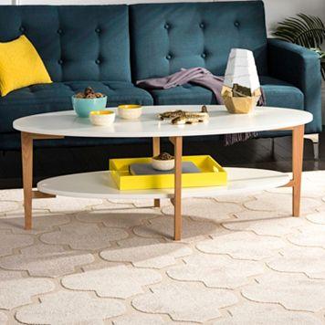 Safavieh Two-Tone Oval Coffee Table