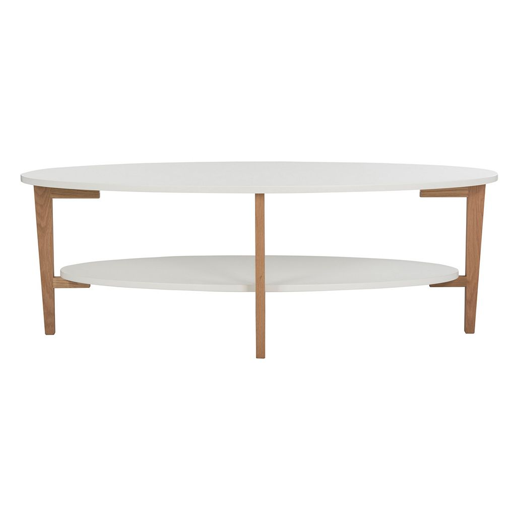 Safavieh Two-Tone Oval Coffee Table