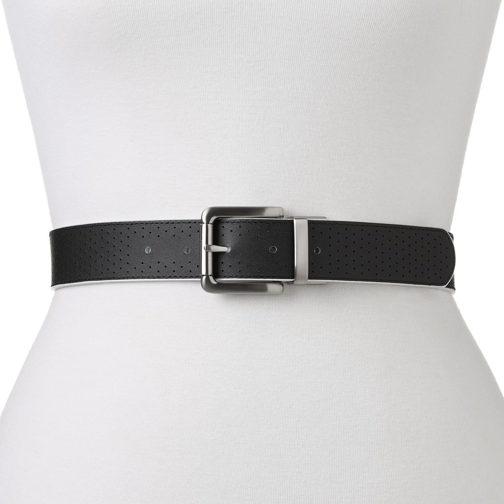 Women's Nike Perforated Reversible Leather Golf Belt