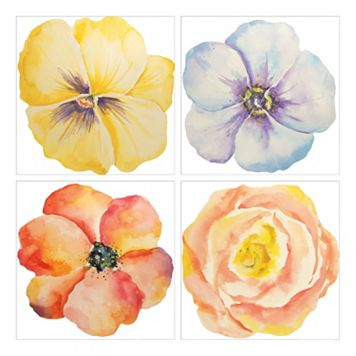 Bloom Canvas Wall Art 4-piece Set