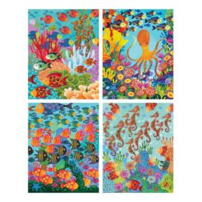Marine Life Canvas Wall Art 4-piece Set
