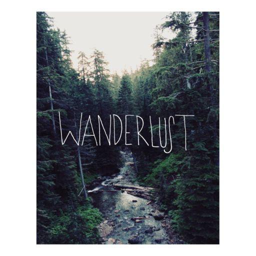 """Wanderlust"" Ranier Creek Canvas Wall Art"