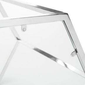 Safavieh Geometric Glass End Table