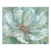Teal Splash Canvas Wall Art