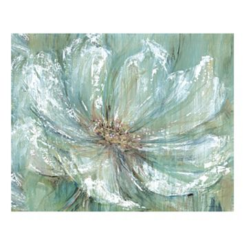 Teal Splash Canvas Wall Art