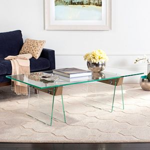 Safavieh Modern Industrial Glass Coffee Table