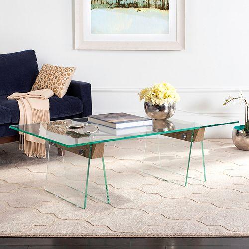 Safavieh Modern Industrial Glass Coffee Table