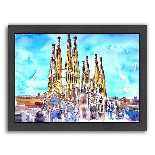 Americanflat Sagrada Familia Barcelona Framed Wall Art