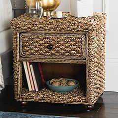 Safavieh Braided Wicker Nightstand