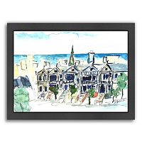 Americanflat San Francisco Victorian Houses Framed Wall Art