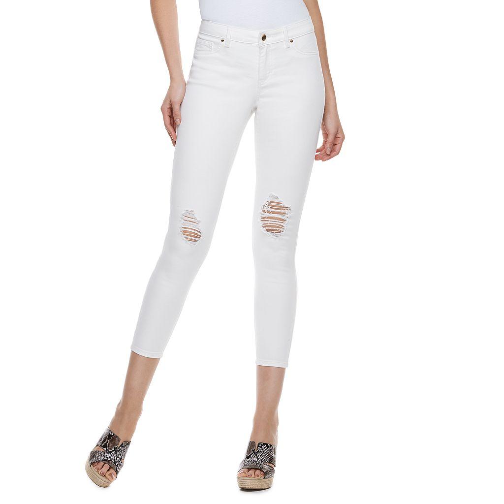 Women's Jennifer Lopez Ripped Super Skinny Ankle Jeans