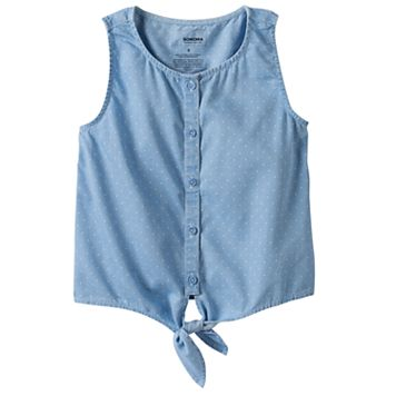 Girls 4-12 SONOMA Goods for Life™ Chambray Tie-Front Top