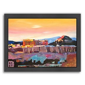 Americanflat Athens, Greece Akropolis Framed Wall Art