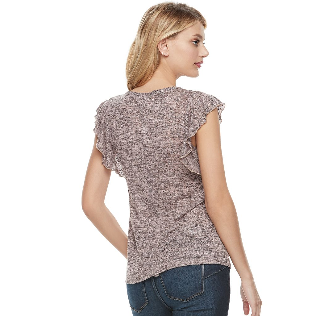 Women's Juicy Couture Embellished Flutter Tee